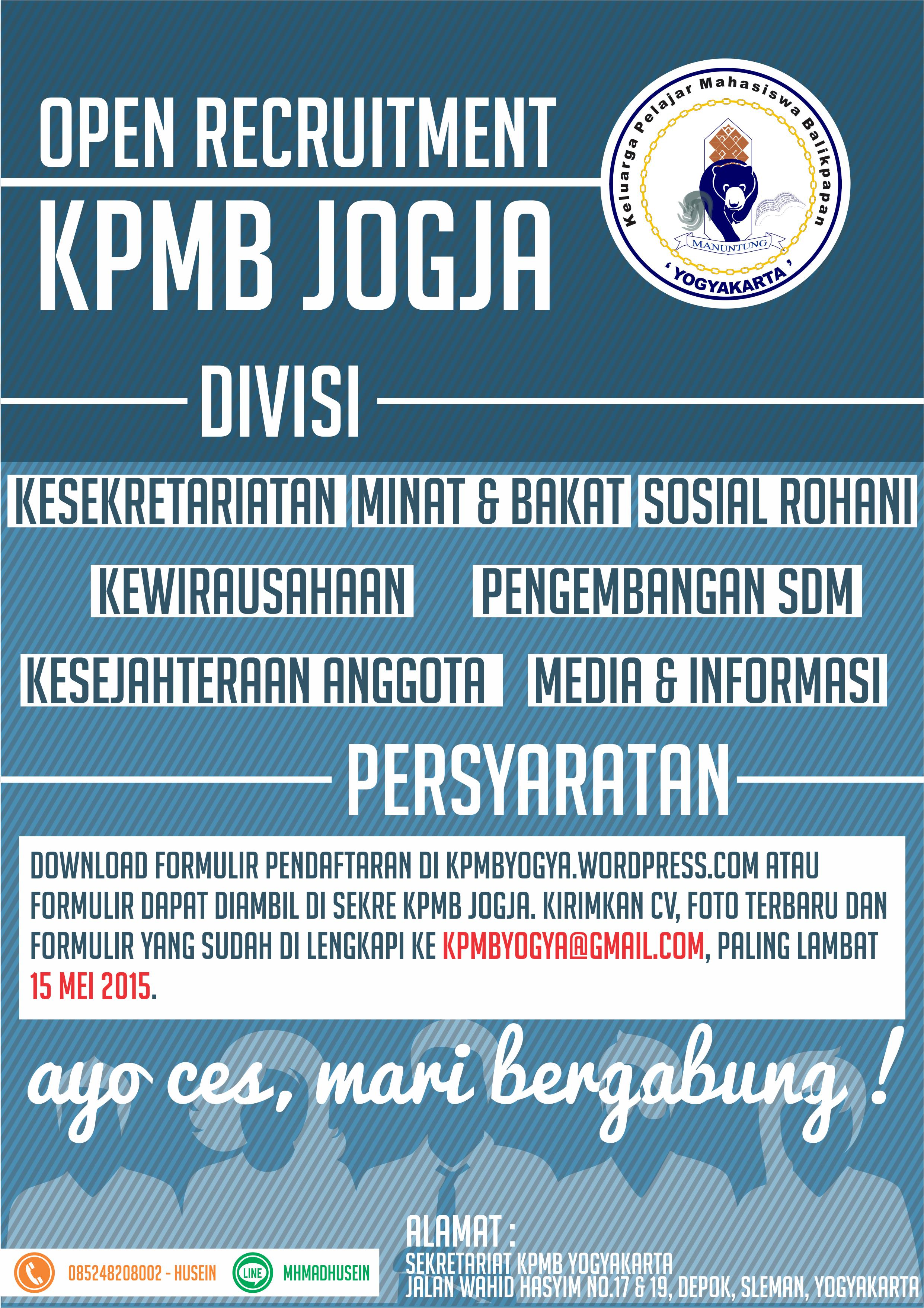 Open Recruitment Kpmb Jogja 2015 2016 Keluarga Pelajar Mahasiswa