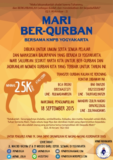 Poster kegiatan Idul Adha 1436 H